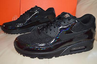 New Nike Womens Air Max 90 Premium Run Running Shoes 443817 002 Black Patent 9