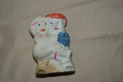 Vintage Japan Bisque Penny Doll Frozen Charlotte Charlie Man Carrying Woman