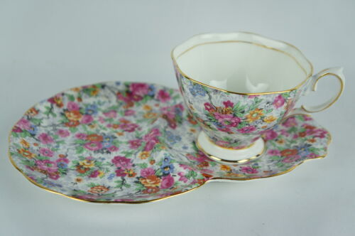 Vintage Royal Albert Bone China Snack Plate Teacup England, set of 6