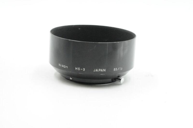 Nikon HS-3 52mm Clip-on Lens Hood for 50 and 55mm f1.2 Lenses #970