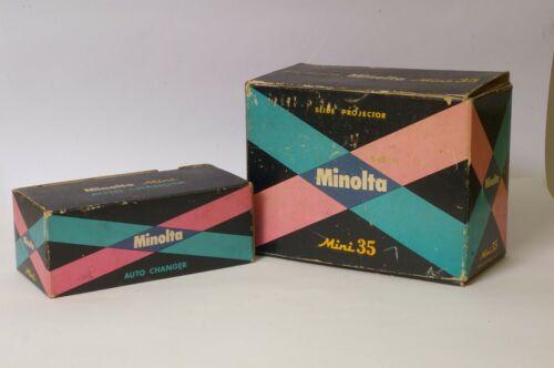 F95256~ Minolta Mini 35 Projector & Auto Changer – Working – Optics Excellent