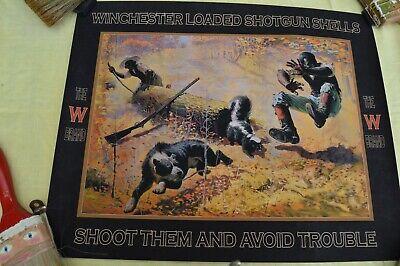1908 Winchester Advertising The W Brand Shells Poster Men, Dog, Skunk