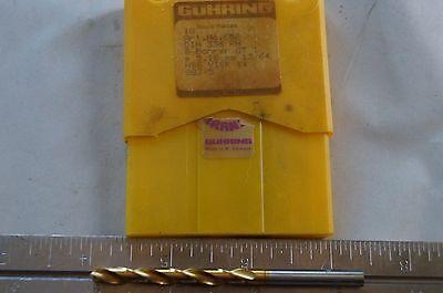 "Guhring HSS Drill - TiN Coated - 5.16mm (13/64"") - 3.360"" Length"