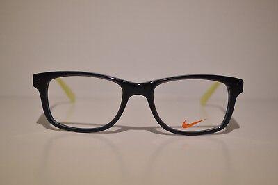 New Authentic Child's Nike Blue Yellow Eyeglasses: 5509 085