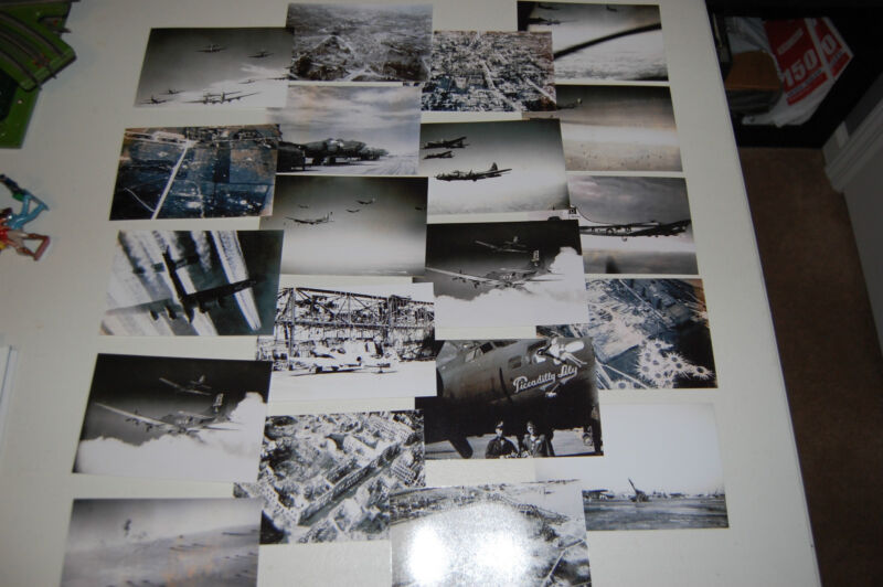 WWII COLLECTION OF 99 PRINTS 100TH BOMBER GROUP FROM ORIGINAL NEGATIVES LOOK