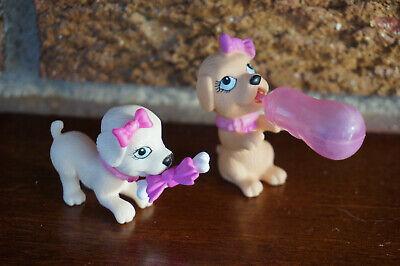 BARBIE Figure Lot 2 Puppies Accessories Luv Me 3 Pet Doll Set Magnet Bone Bottle