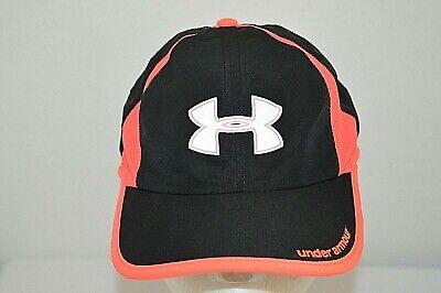 Under Armour Black Pink Womens Reflective Running Gym StrapBack Hat Cap