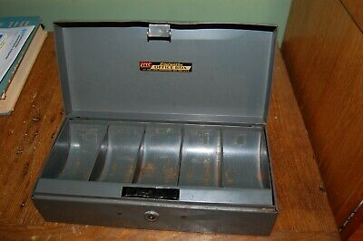 Vintage Asco Steelmaster Office Box Metal Petty Cash Box Drawer - No Key