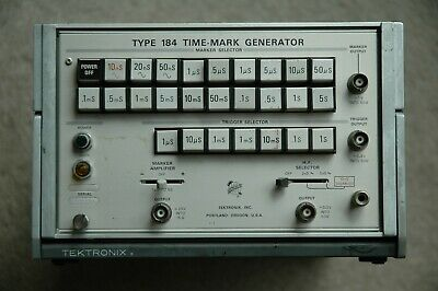 Tektronix Type 184 Time Mark Generator Calibration Works Great