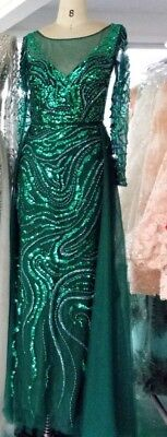size 10 Brand New Glamorous Green/ Long  Prom / Evening / Pageant Gown - Glamorous Long Gown
