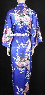 atin Kimono Robe Nachtwäsche Langer/Taillenband, Königsblau (Könige Roben)
