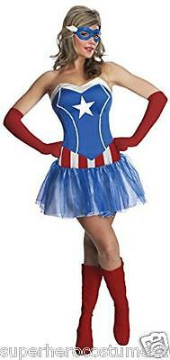 Avengers Age of Ultron Captain America Dream Female Costume 6-10 MED NEW 820012