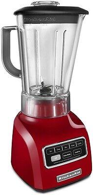 KitchenAid 5-Speed blender RR-ksb650er 650 Series.9HP Shatter-Resistant Jar Red ()