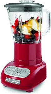 New-KitchenAid-5-Speed-Blender-Glass-Jar-KSB565ER0-5-speed-Empire-Red-USA-Made