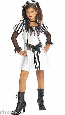 Girls Pirate Hair (Punky Pirate Girls Halloween Costume with Hair Ties fancy dress costume Med&)