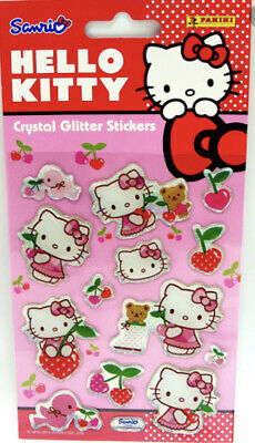 Hello Kitty Puffy Crystal  Glitter Stickers  4 Packs