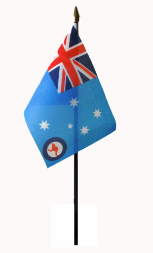 ROYAL AUSTRALIAN AIR FORCE flag PACK OF TEN SMALL HAND WAVING FLAGS Australia