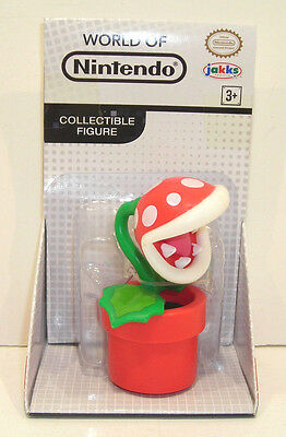 World Of Nintendo Red Piranha Plant Action Figure Sealed Jakks Pacific 2 5 Inch