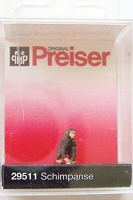 Chimp Chimpanzee - HO Preiser 29511 DISCONTINUED Chimp / Chimpanzee : 1:87 Zoo or Circus Figure