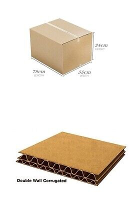 50 STRONG DOUBLE WALL CARDBOARD BOXES 78 x 55x 34 Mailing Packing Postal Removal