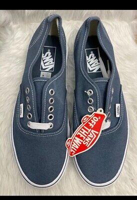 Vans Men Shoes Authentic Navy Blue Canvas Lace Up Classic Sneakers Size 8