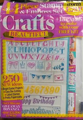 Crafts Beautiful UK April 2017 Bright Easter Projects Stamps FREE SHIPPING sb (April Crafts)