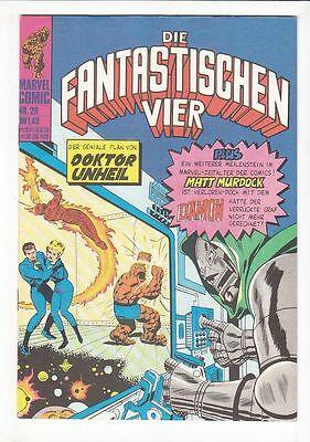 Die Fantastischen Vier 1974 Nr.20 Williams Verlag im Zustand 1 !!!