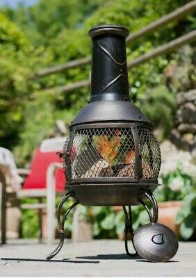 La Hacienda Tuscan Steel Chimenea Log Burner Garden Patio Heater Chiminea BNIB!