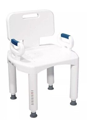 (Drive Medical Premium Series Shower Chair with Back and Arms)