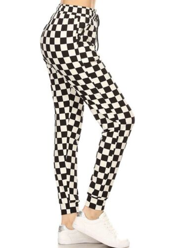 Women's Printed Activewear Joggers Cuffed Hem Sweatpants N