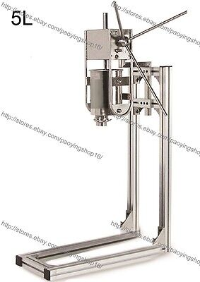 Stainless Steel 5l Manual Vertical Spanish Donuts Churro Maker Machine W Stand