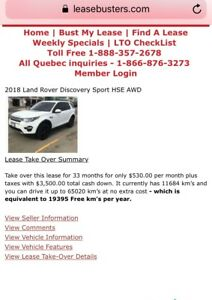 2018 Land Rover Discovery Sport Lease take over!