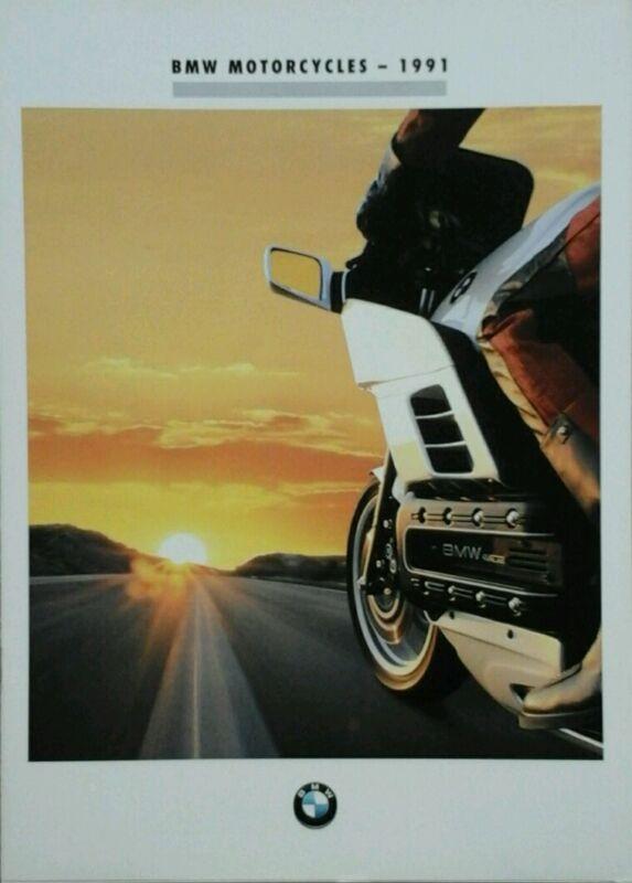 BMW R80  R100  K75  K100  K1 UK Sales Brochure 1991. Incs Spec sheets.