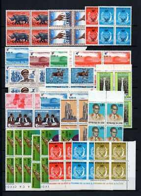 Belgisch Congo Belge Rep. Congo/Zaïre Clearout 24 blocs of 4 MNH all topics (F)