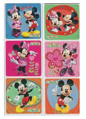 25 Mickey and Minnie Mouse Glitter Stickers, 2.5