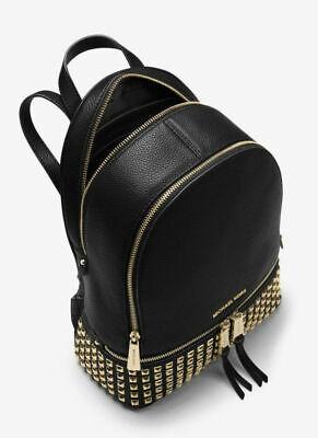 MICHAEL MICHAEL KORS Rhea Medium Studded Leather Backpack -FAST shipping