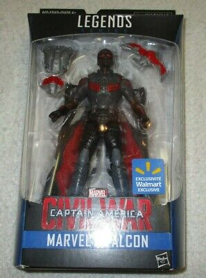 MARVEL LEGENDS HASBRO CAPTAIN AMERICA CIVIL WAR FALCON WALMART EXCLUSIVE NEW