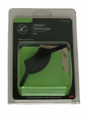 3m Littmann Stethoscope Identification Tag Black Engravablewrite-on Name Plate