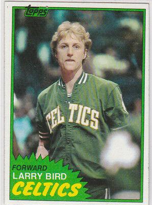 LARRY BIRD 1981 Topps VINTAGE BOSTON CELTICS CARD Basketball NBA HOFer 2nd Year!
