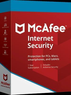 McAfee Internet Security 2020 (1, 3, 5, 10 Geräte) 1 Jahr sofort per EMAIL TOP