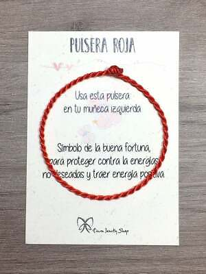 Pulsera Simple hilo Rojo,pulsera amuleto,regalo protección KABBALAH, mal de ojo