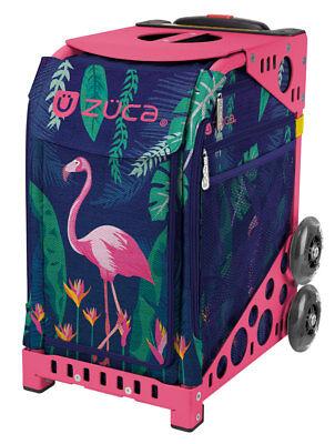 Pink Flamingo Bekleidung (ZUCA Bag FLAMINGO Insert & Pink Frame w/Flashing Wheels - FREE SEAT CUSHION)