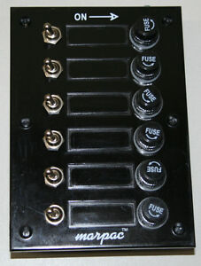 6 Gang Fused Marine Switch Panel