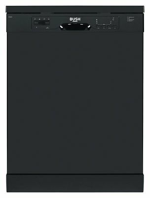 Bush BFSNB12B Free Standing 60cm A++ Full Size Dishwasher - Black.