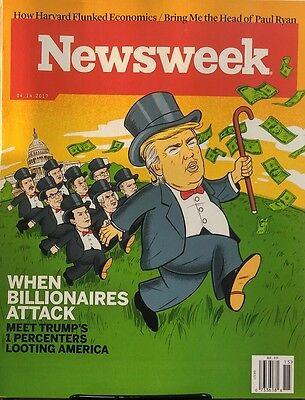 Newsweek April 14 2017 When Billionaires Attack Donald Trump FREE SHIPPING sb