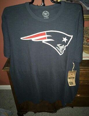 New England Patriots 47 Brand Logo Men's Scrum t-shirt NWT Size (Logo Scrum T-shirt)
