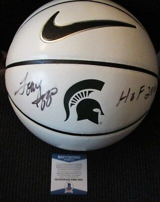 5f54487d30b0 TOM IZZO MICHIGAN STATE SPARTANS SIGNED INSCRIBED NIKE BASKETBALL BECKETT  COA
