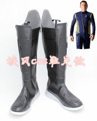 Star Trek Discovery Michael Burnham Black Boots Cosplay Shoes Cos Shoes - Star Trek Boots