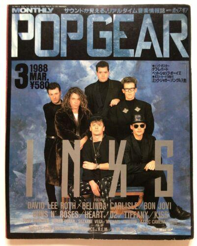 USED POP GEAR Popgear 3/1988 Japan Music Magazine INXS Guns N