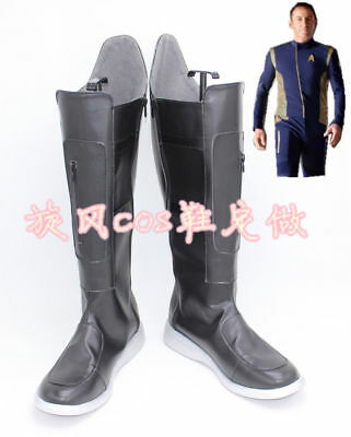 Star Trek Discovery Michael Burnham Black Boots Cosplay Shoes Cos - Star Trek Boots